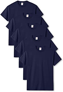 Fruit of the Loom Men's Original T. T-Shirt Pack of 5, Navy, XX-Large