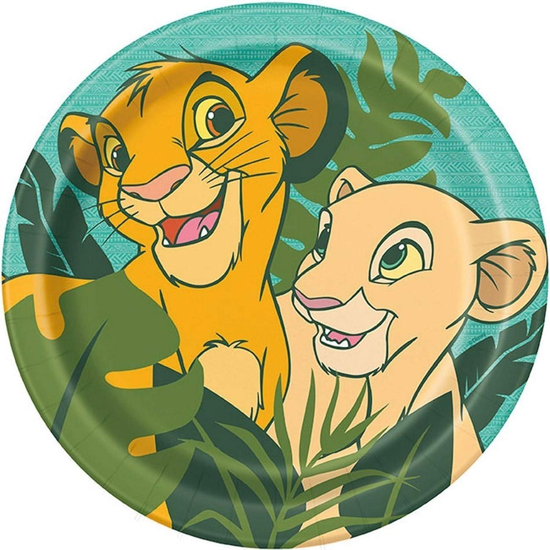Disney Lion King Round Dinner Plates - 8 Pcs