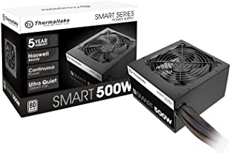 Thermaltake Smart 500W 80+ White Certified PSU, Continuous Power with 120mm Ultra Quiet Cooling Fan, ATX 12V V2.3/EPS 12V ...