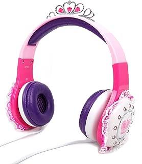 DURAGADGET Kids' Pink & Purple Adjustable 'Princess' Tiara Headphones - Compatible with Lexibook Disney Princess Rapunzel CD Player for Kids