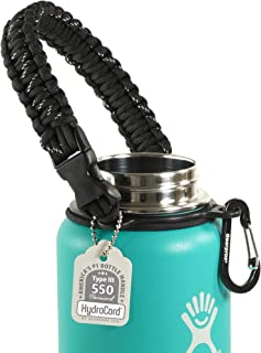 Gearproz Paracord Handle for Hydro Flask - America's No. 1 Bottle Carrier - Extra Durable and Secure,  No More Dropping Your Wide Mouth Bottles (12 oz to 64 oz) - Colors Each Family Member Will Love