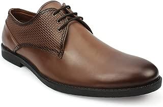 AvantHier Expensive Design Lace Up Genuine Leather Formal Shoes for Men's/Boys(Tan)