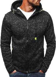 Halfword Mens Hoodies Full Zip Sweatshirt Fleece Long Sleeve Casual Hooded Pullover Sports Jackets Jumpers Cardigans