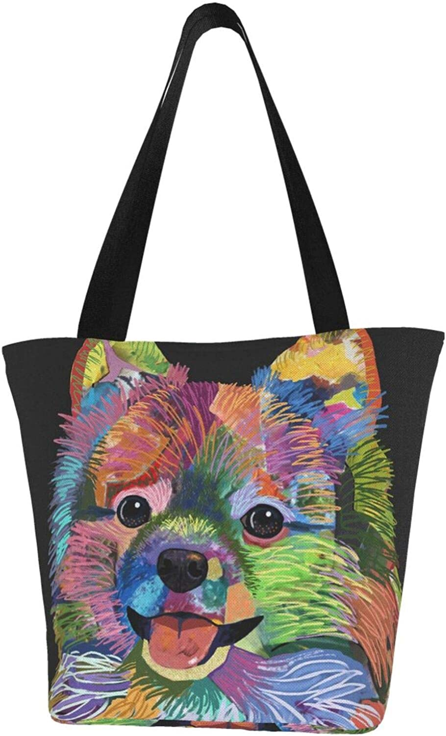 Colorful Pomeranian Spitz Dog Cute Animal Wom Themed Oakland Mall Printed OFFer Pet
