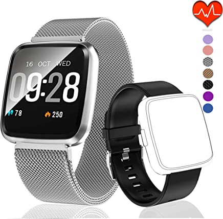 PUBU Fitness Tracker, Activity Tracker Watch with Heart Rate Monitor, IP67 Waterproof Fit Watch with Calorie Counter, Smart Fitness Band with Sleep Monitor, Pedometer Watch