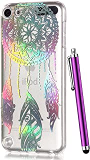 iPod 6 Case for Kids, iPod Touch 6th Generation Case,CAIYUNL Cute Clear TPU Soft Silicone Protective Pattern Design Slim Cover shockproof Thin Rubber for iPod Touch 5th Generation&Stylus-Aeolian bells