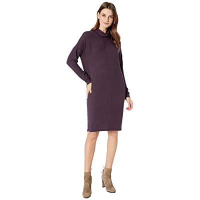 B Collection by Bobeau Siena Mock Neck Dress (Plum Perfect) Women