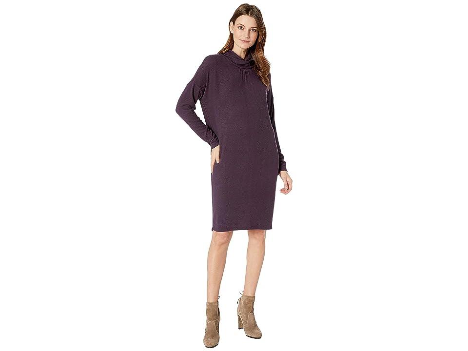 B Collection by Bobeau Siena Mock Neck Dress (Plum Perfect) Women