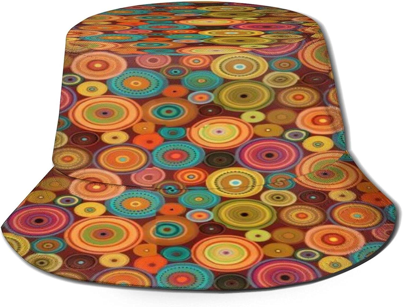 Retro dots Bucket Hat OFFicial Unisex H Fisherman Packable Sun Overseas parallel import regular item Summer