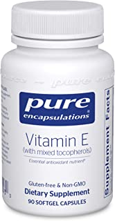 Pure Encapsulations Vitamin E (with Mixed Tocopherols) | Antioxidant Supplement to Support Cellular Respiration and Cardio...