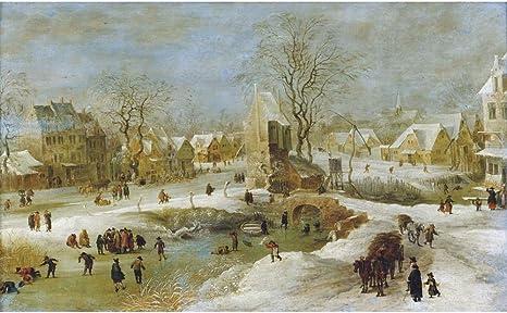 The Medici Society Limited Winter Scene In Holland Jan Brueghel The Elder Alle Produkte