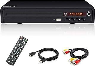 WISCENT Reproductor de DVD (Full HD, HDMI, USB, Multi Region) Compatible con DIVX, JPEG y MP3, con HDMI/AV/USB/Mic