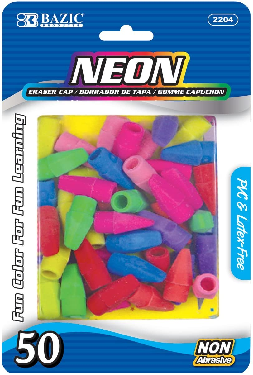 BAZIC Neon Eraser Top. Chisel National uniform free shipping Pencil Standard Erasers for Shaped New product! New type