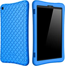 Bear Motion Silicone Case for Fire HD 8 2017/2018 - Anti Slip Shockproof Light Weight Kids Friendly Protective Case for All-New Fire HD 8 Tablet with Alexa (7th / 8th Gen 2017/2018 Model) (Blue)
