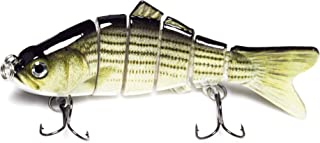 Calissa Offshore Tackle Multi Jointed Bass Swimbait Fishing Lure Crankbait ||| 4 inches 0.7oz (20g)