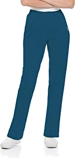 Landau Essentials Relaxed Fit 4-Pocket V-Neck Scrub Top for Women 8219