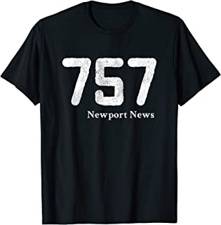 757 Area Code Newport News Shirt