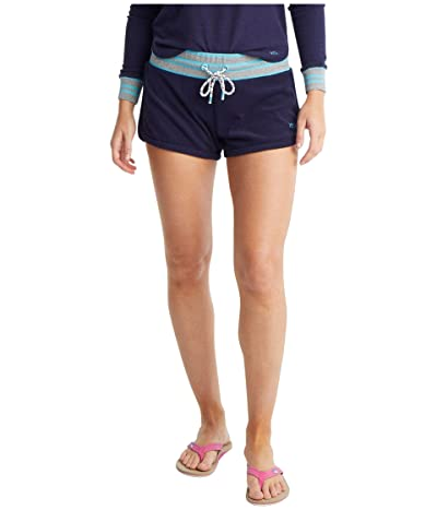 Southern Tide Jodie French Terry Stripe Shorts (Nautical Navy) Women