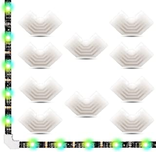 4 Pin LED Strip Lights Connectors L Shape,AWSOM 10mm LED Strip Corner Connectors 4 Pin for SMD5050 RGB LED Strip Lights,10...
