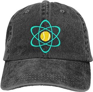 Tennis Atom Baseball Cap Unisex Distressed Hats Adjustable Plain Cap