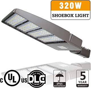 LED Parking Lot Lights 320W LED Shoebox Light Fixture - Replace 1000W HID/HPS, 41600LM 5700K Outdoor Road Street Area Security Lighting, IP65 Waterproof, DLC UL Listed
