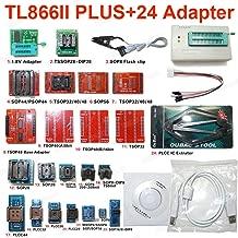 Xia Fly TL866II Plus Universal Minipro Programmer+24 Adapters+Test Clip TL866 PIC Bios High Speed Programmer