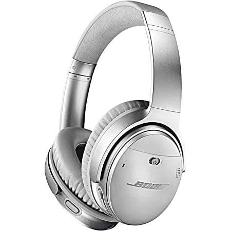 Bose QuietComfort 35 (Series II) Wireless Headphones, Noise Cancelling - Silver (Renewed)