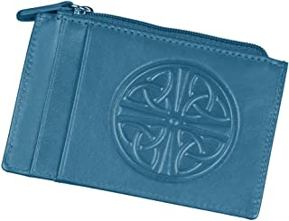 Women's Celtic Knot ID Wallet - Leather - RFID Blocking - 4.5
