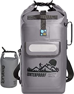 IDRYBAG Waterproof Backpack Floating Dry Bag, Dry Bag Backpack Waterproof 20L, Roll Top Keeps Gear Dry for Kayaking, Boating, Rafting, Fishing, Swimming, Hiking, Camping, Travel, Beach
