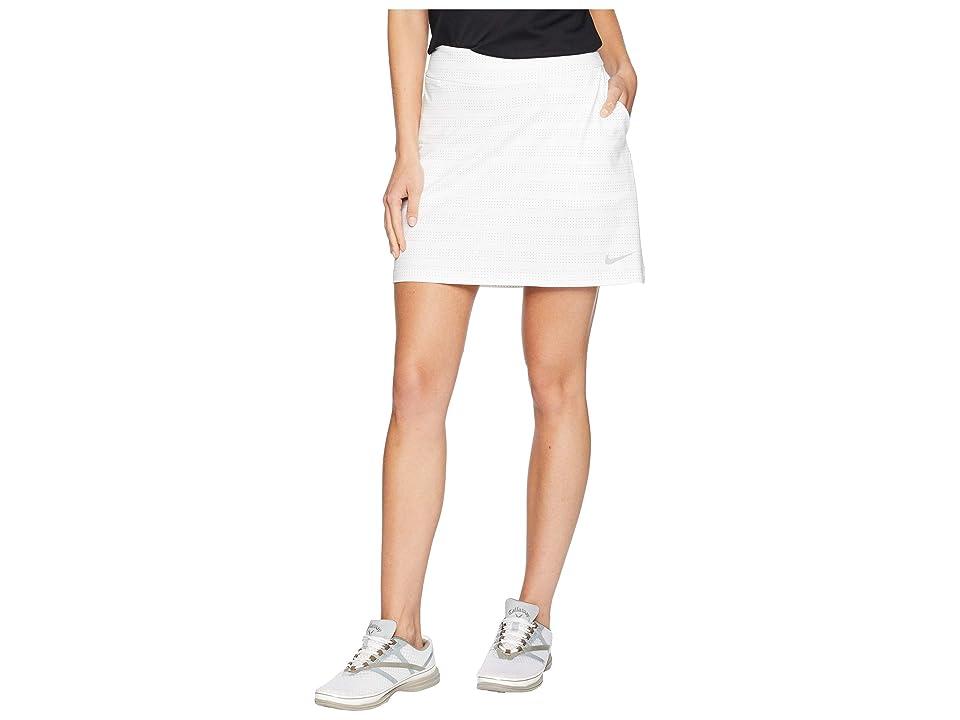 Nike Golf Dry Skort Knit 16.5 Print (White/Gunsmoke/Flint Silver) Women
