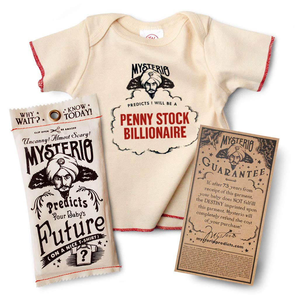 WRYBABY Mysterio Baby Tee Predicts Your Child's Future | Natural, 0-12M