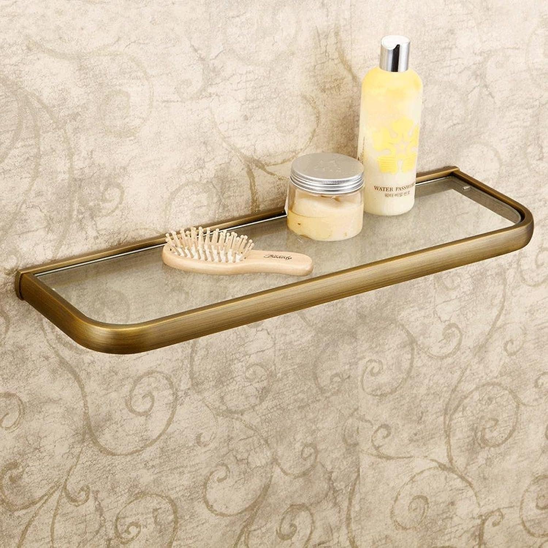 XAH@ Copper antique continental shelf bathroom storage glass bathroom shelf