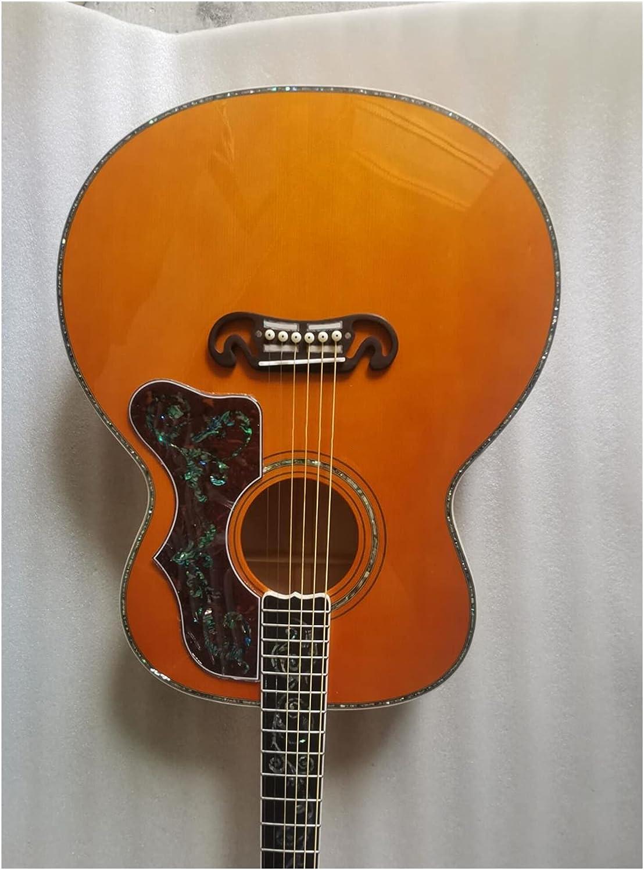 YYYSHOPP Guitarra Calidad Personalizada Tienda Vid Guitarra Llama Arce ámbar Guitarra sólido Spruce 43 Pulgadas Acústica Guitarra eléctrica Adecuada para Jugadores en Todas Las etapas
