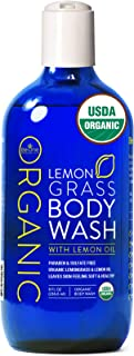 USDA Organic Lemongrass Body Wash by Be-One Organics - Organic Body Wash - Paraben & Sulfate Free - All Natural - Eczema -...