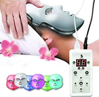 Red Light Therapy LED Face Mask 7 Color | LED Mask Therapy Facial Photon For Healthy Skin Rejuvenation | Collagen, Anti Aging, Wrinkles, Scarring | Korean Skin Care, Facial Skin Care Mask