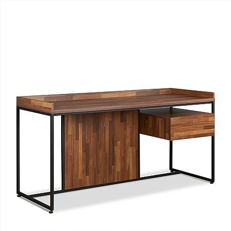 Amazon Com Acme Sara Desk Walnut Sandy Black Furniture Decor