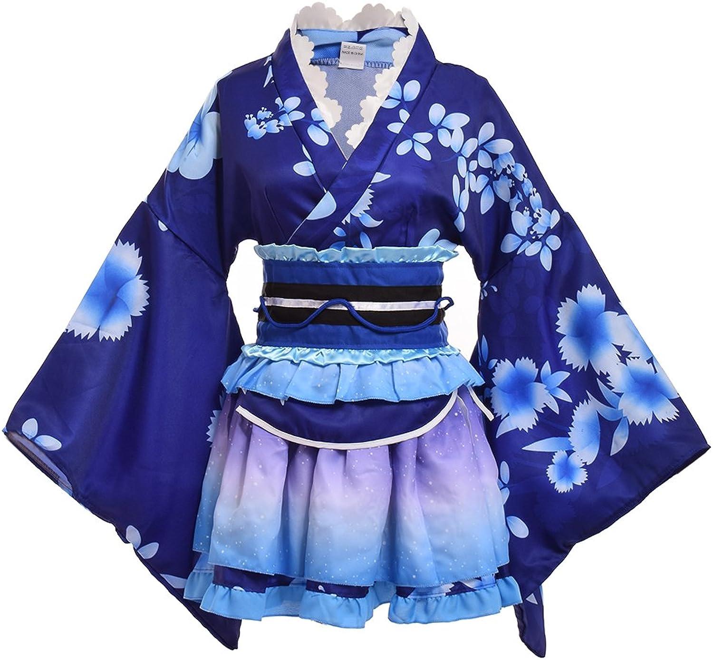 Double Villages Japanischen Stil Kimono Bademantel Kleid Anime Cosplay YUKATA Serie Japanischen Sommer Nette Mädchen Anime Cosplay Kostüme B076KQ1M5S Praktisch und wirtschaftlich     | Qualitativ Hochwertiges Produkt