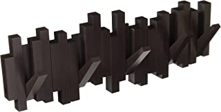 Umbra Sticks Multi Hook Coat Rack, Wall Mounted, Space Saving Coat Hook and Entryway Organizer for Home, Office or Dorm Room, Espresso