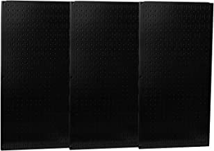 product image for Wall Control Industrial Metal Pegboard - Black, Three 16in. x 32in. Panels, Model Number 35-P-35-P-3248BK