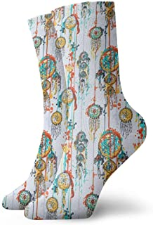 AEMAPE, Acuarela con Dream Catchers Cushion Crew Calcetines Essential Sport Wicking Work para hombres y mujeres
