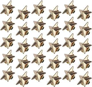 Chudian 30pcs Insignia de Estrella Pin de Solapa de Oro, Broche Pentagrama para Hombres Cuello Clip Pin Broche Camiseta Ac...