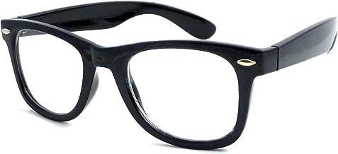 RETRO Thick Horn Rimmed Trendy Frame Clear Lens Eye Glasses BLACK