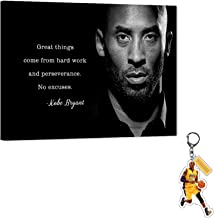 Kobe Bryant Quotes Canvas Wall Art NBA LA Lakers Kobe Inspirational Quotes Poster, NBA Super Star Framed Artwork for Home ...