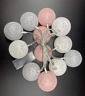 HS-Lighting - Guirnalda de 12 luces LED con bolas de algodón ...