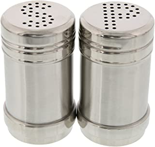 Salt and Pepper Shakers - Modern Kitchen Stainless Steel Salt and Pepper Shakers - 3.5 Inch
