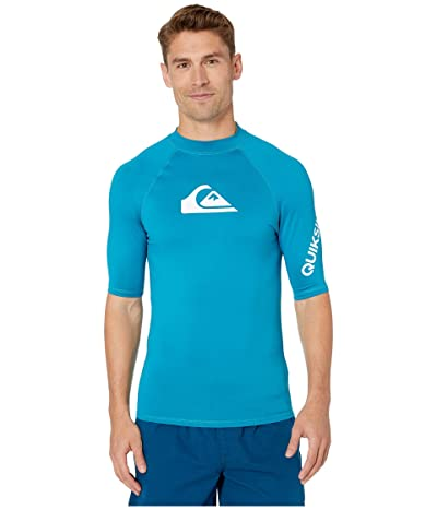 Quiksilver All Time Short Sleeve Rashguard (Crystal Teal) Men