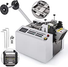 Mophorn Automatic Heat-Shrink Tube Cutting Machine 250W YS100 Tube Cable Pipe Cutter Precise EfficientTube Cable Pipe Cutter Cutting Machine for Sleeve, Rubber/Plastic Tube, Small Wire, Sheet, Film