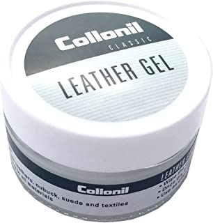 Collonil Leather Gel Classic Repels Dirt, Waterproofs, and Conditions All Designer Smooth Leather and Suede Clothes, Shoes, Handbags, and Furniture. Made in Germany.