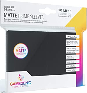 Gamegenic GGS11030ML Matte Prime Sleeves (100-Pack), Black