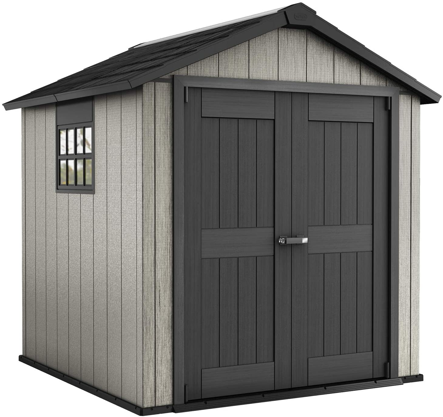 High quality new Keter Oakland 7.5 x Max 61% OFF 7 Outdoor wi Duotech Paintable Storage Shed